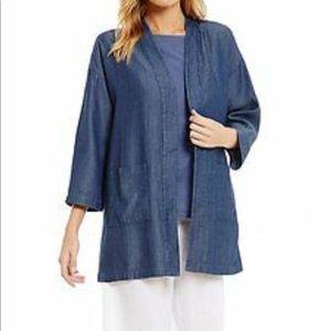 Eileen Fisher Drapey Tencel Denim Kimono Jacket S